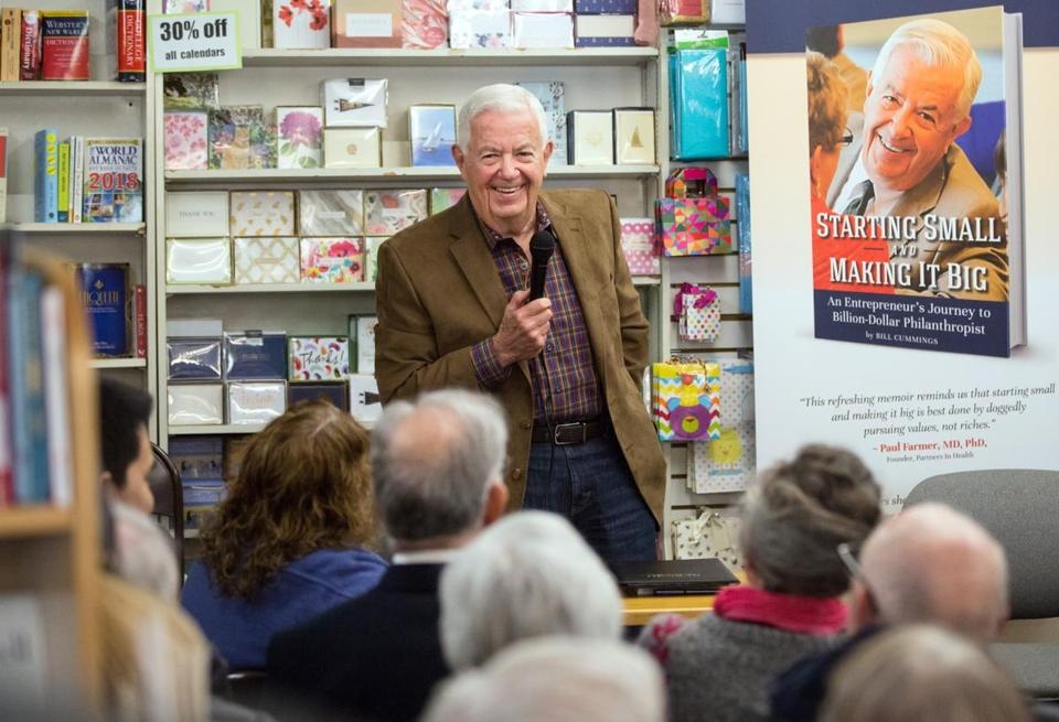 "Bill Cummings talked about his new book, ""Starting Small and Making It Big,"" at BookEnds in Winchester."